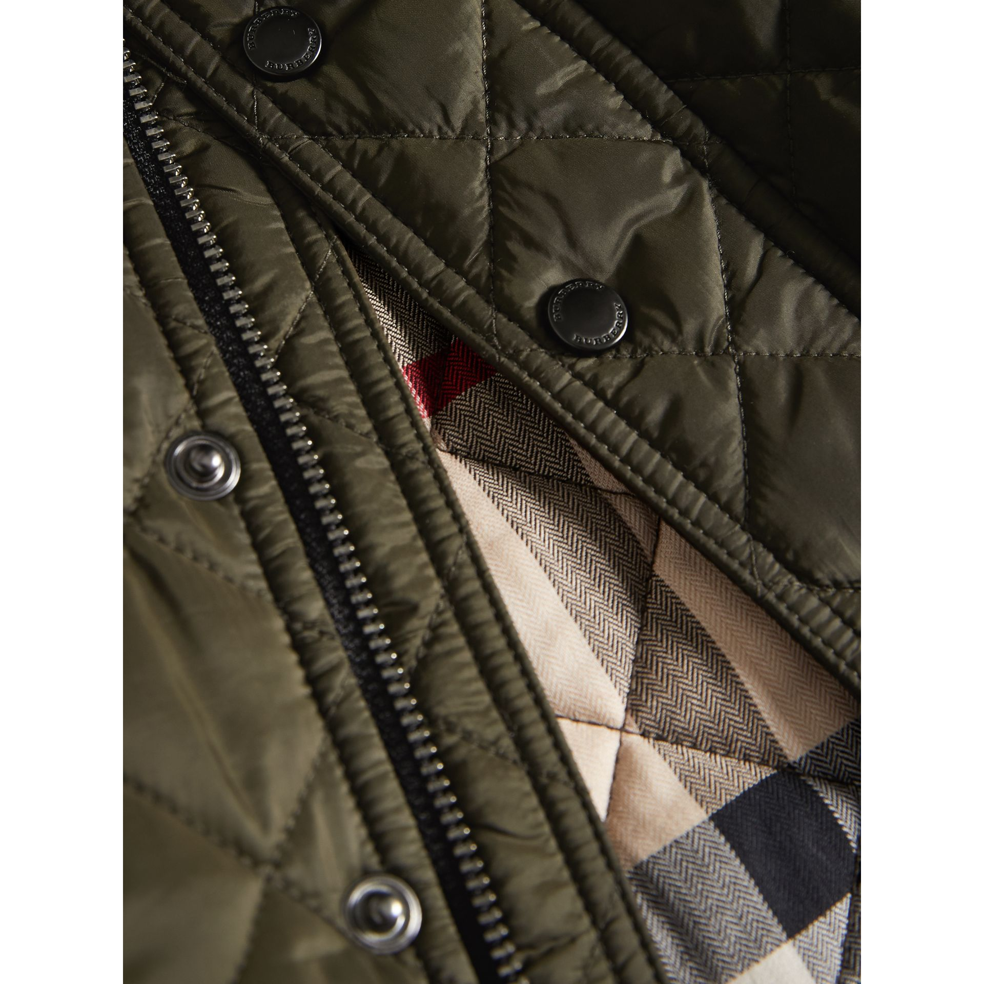 Lightweight Quilted Jacket in Olive | Burberry - gallery image 1