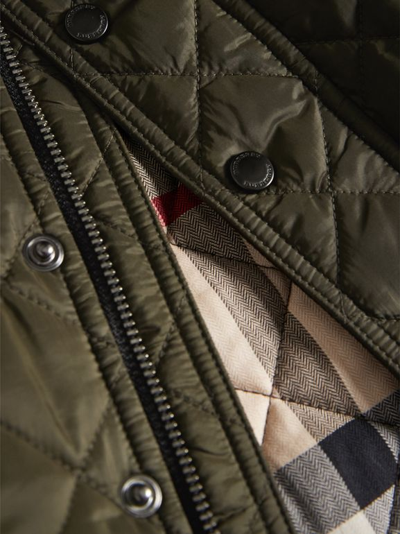 Lightweight Quilted Jacket in Olive | Burberry - cell image 1