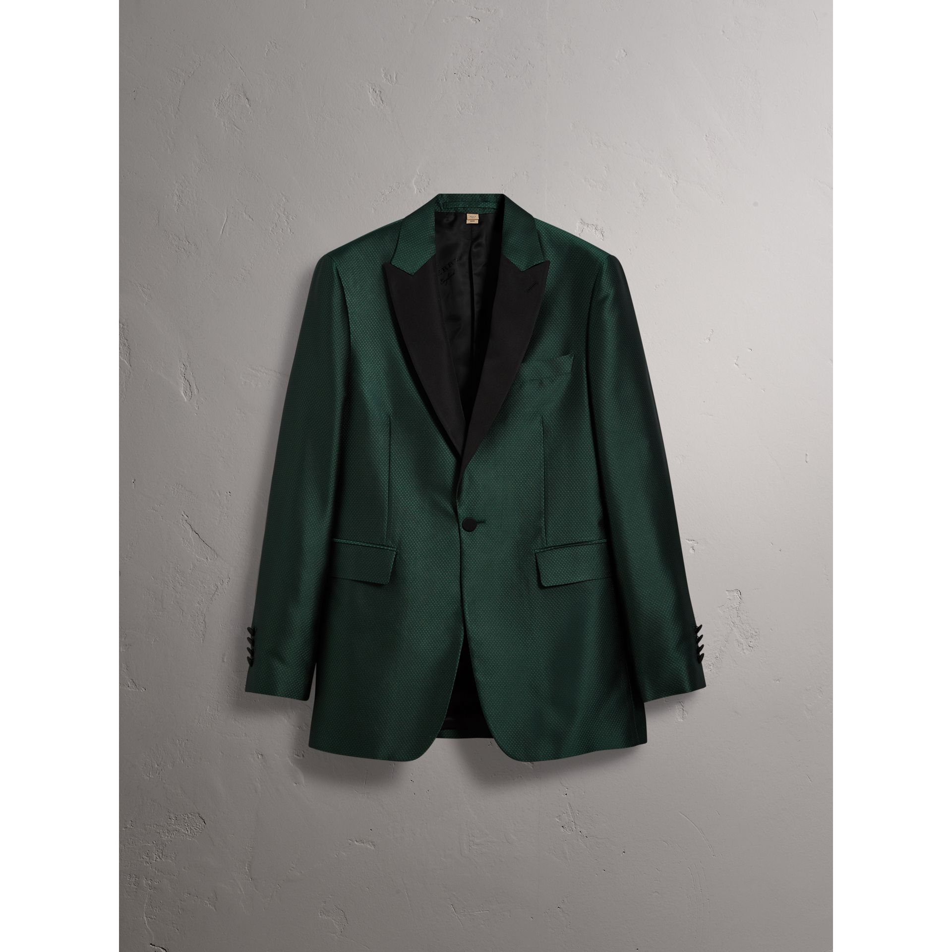 Soho Fit Jacquard Evening Jacket in Forest Green - Men | Burberry - gallery image 4