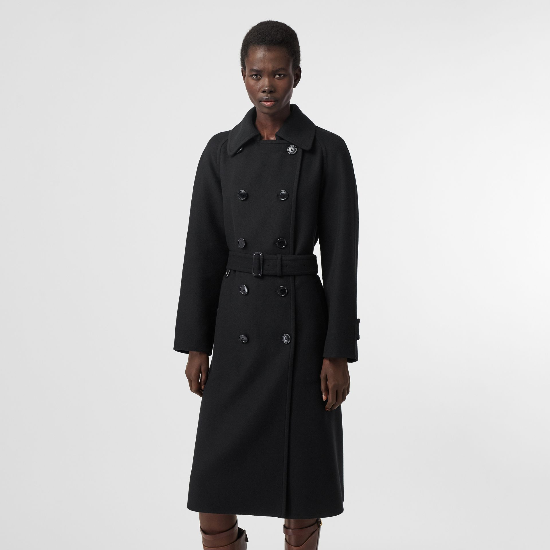 Double-faced Cashmere Trench Coat in Black - Women | Burberry United States - gallery image 6