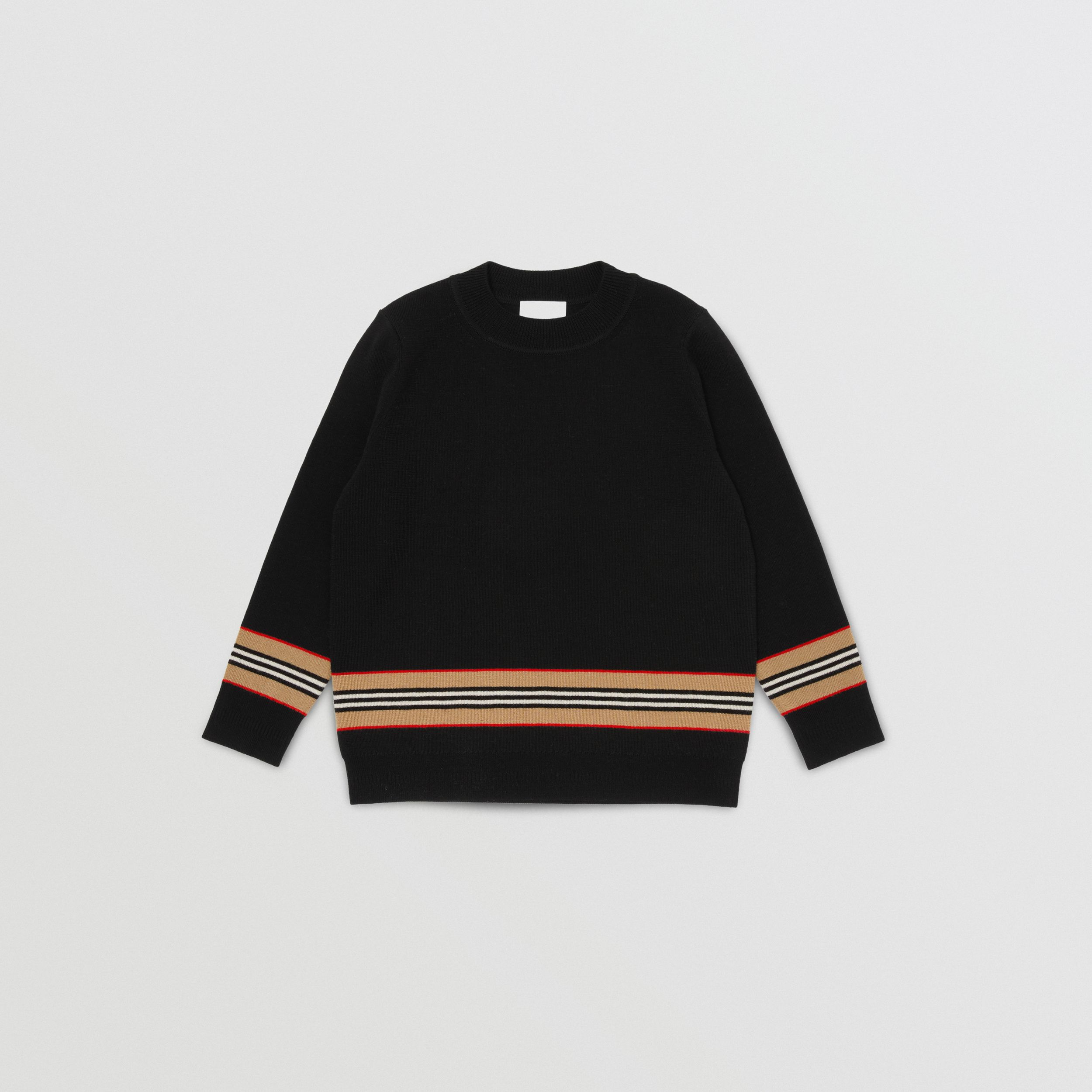 Icon Stripe Panel Merino Wool Sweater | Burberry - 1