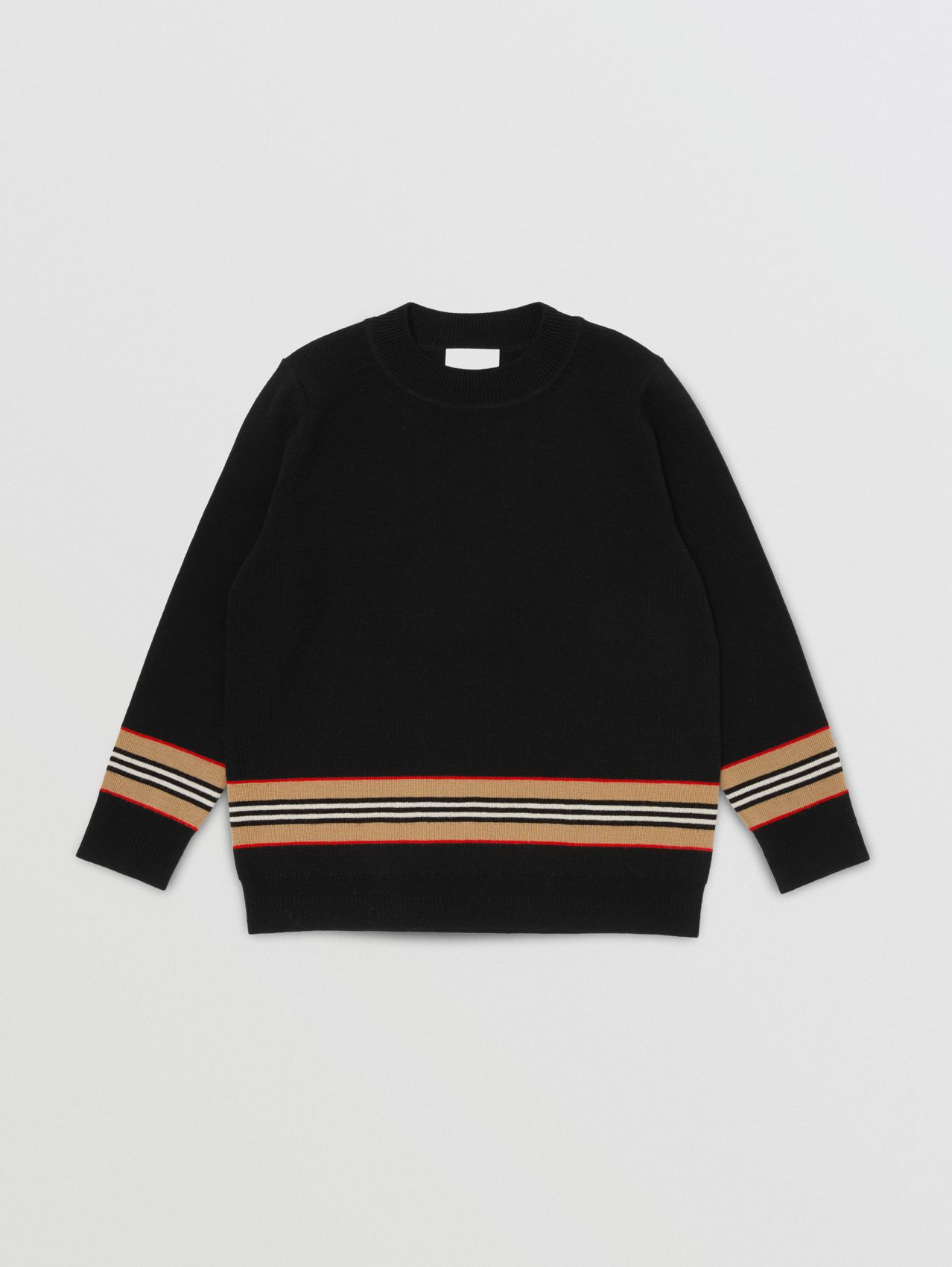 Icon Stripe Panel Merino Wool Sweater