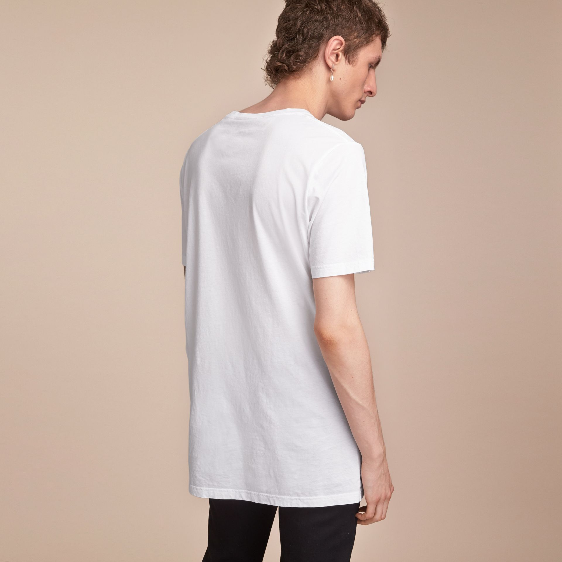Cotton Jersey Long T-shirt - Men | Burberry Singapore - gallery image 3