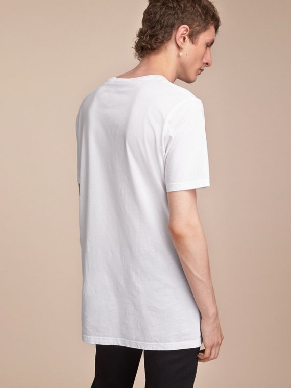 Cotton Jersey Long T-shirt - Men | Burberry - cell image 2