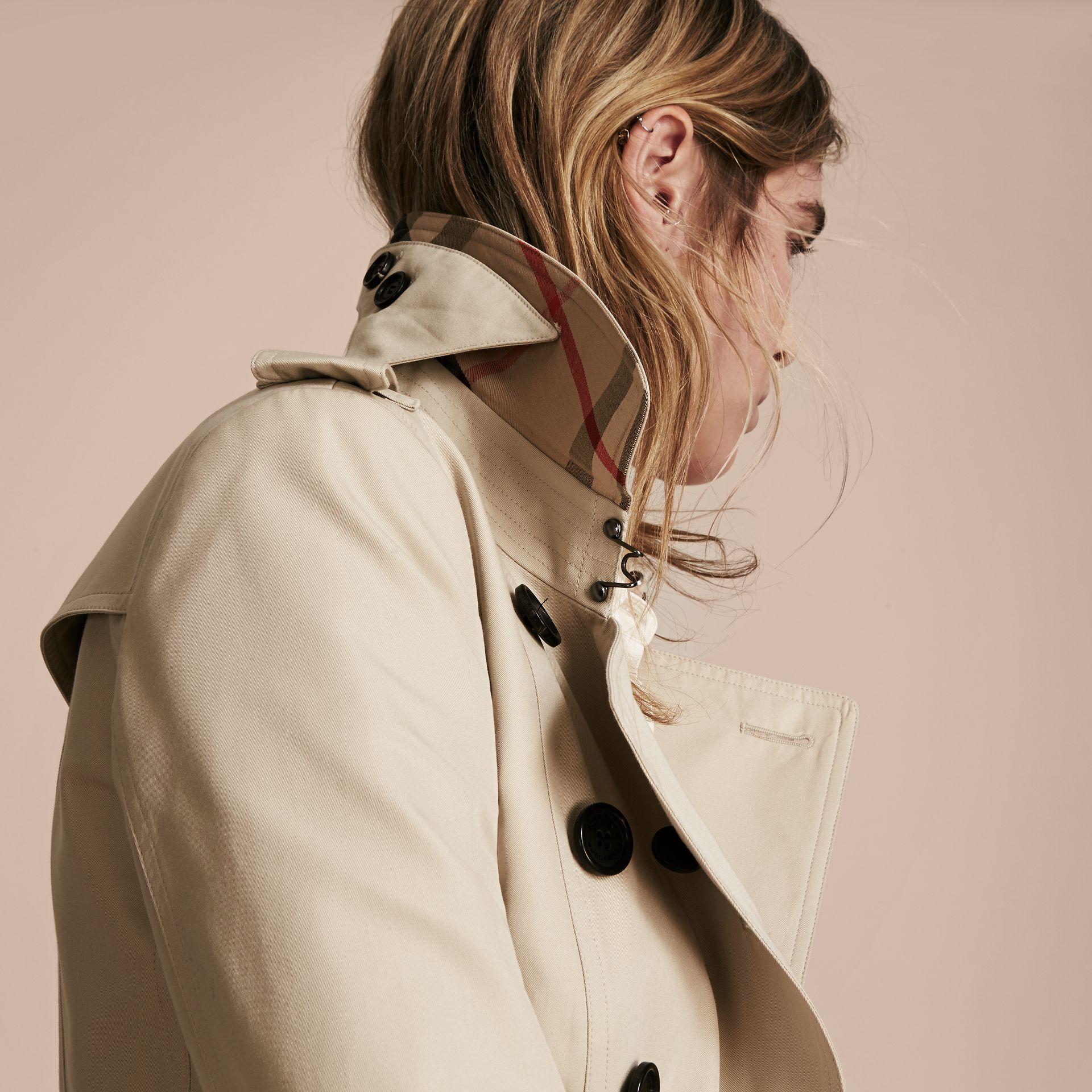 Stone The Chelsea – Extra-long Heritage Trench Coat Stone - gallery image 6