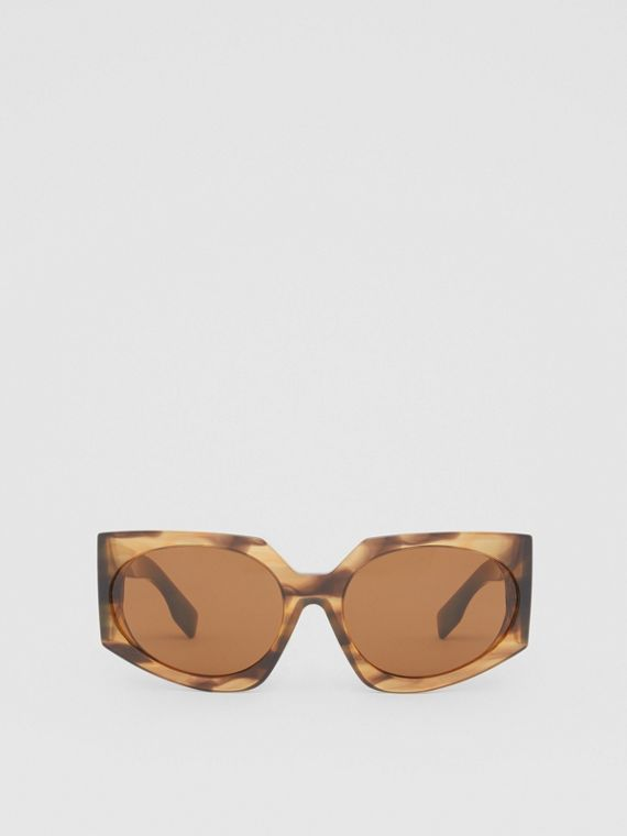 Geometric Frame Sunglasses in Bright Tortoiseshell