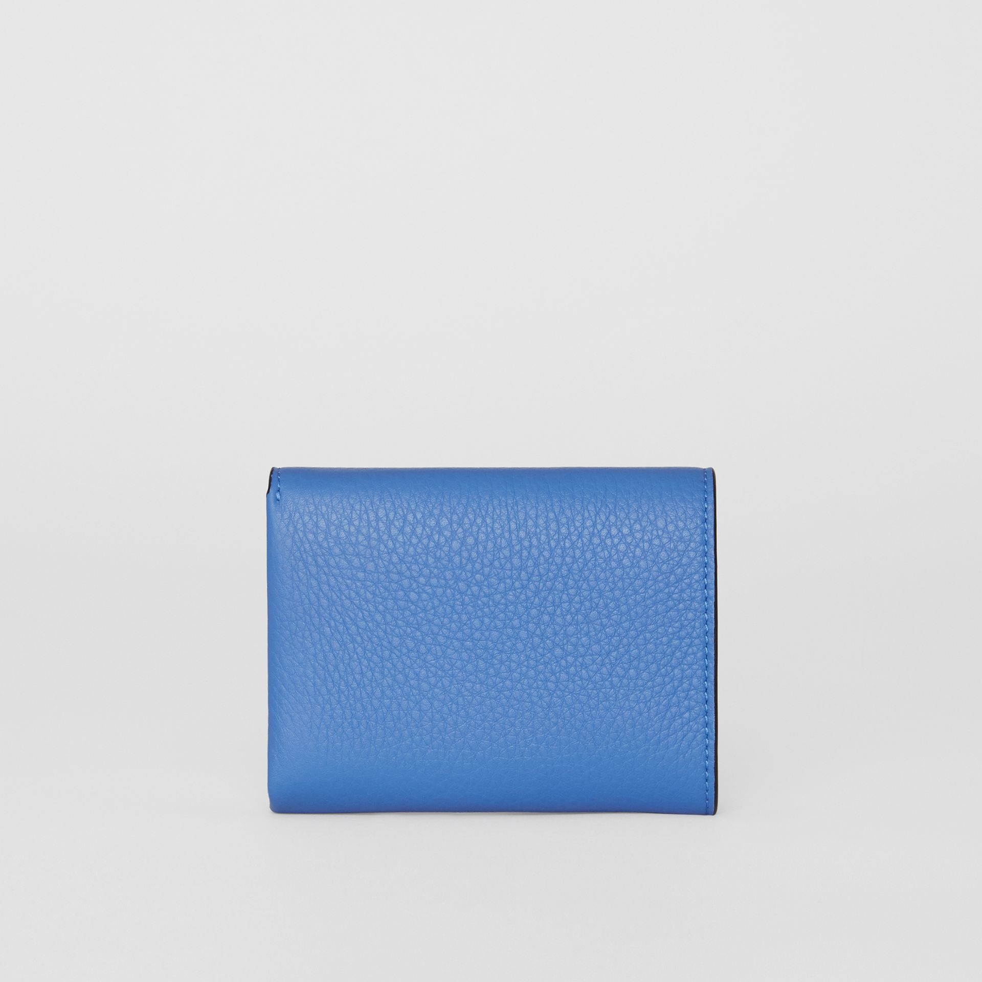 Small Leather Folding Wallet in Hydrangea Blue - Women | Burberry - gallery image 4