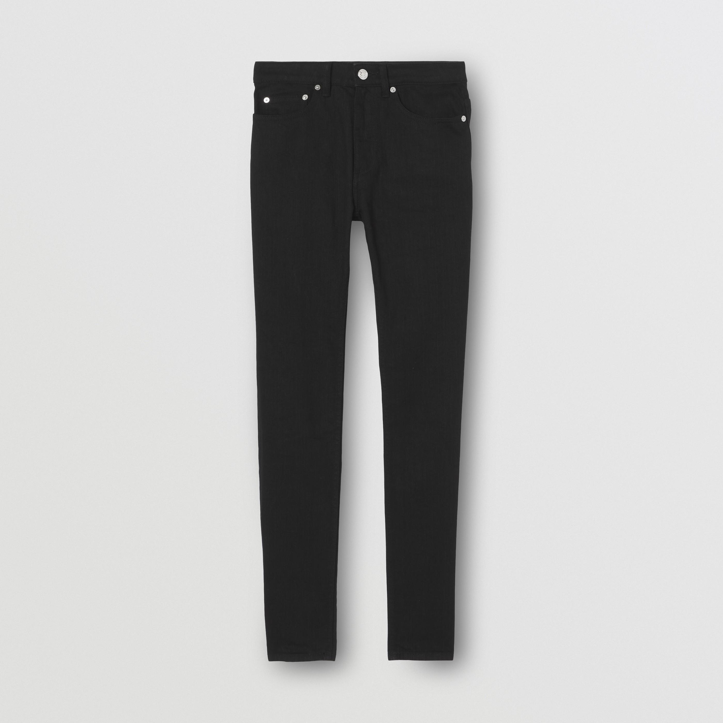 Jeans skinny in denim stretch giapponese (Nero) - Donna | Burberry - 4