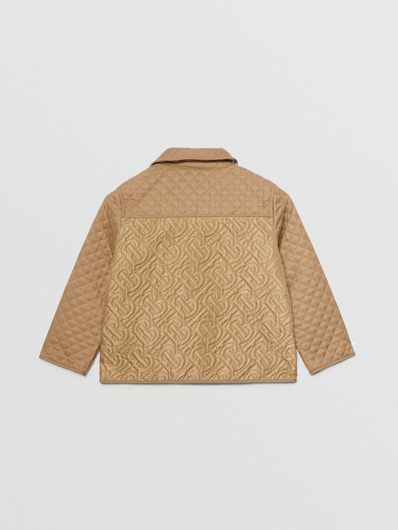 Monogram Quilted Panel Recycled Polyester Jacket in Honey