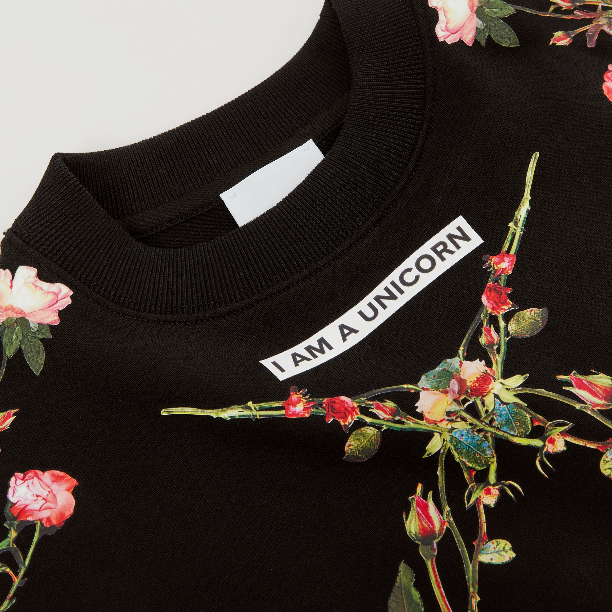 Montage Print Cotton Sweatshirt in Black | Burberry Australia - 2