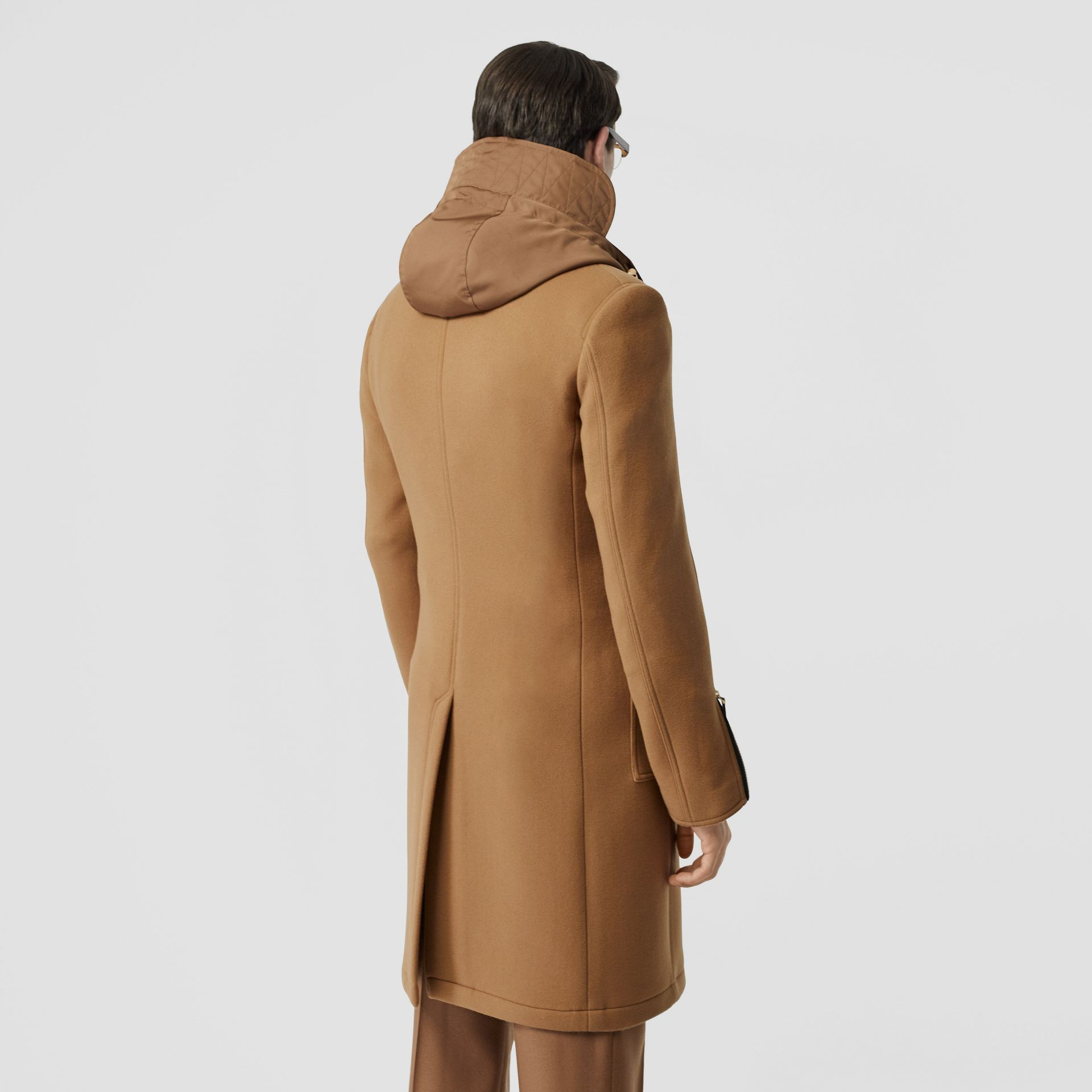 Zip Detail Wool Tailored Coat in Warm Camel - Men | Burberry Singapore - gallery image 2