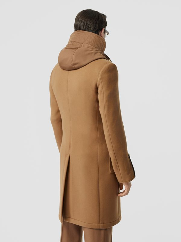 Zip Detail Wool Tailored Coat in Warm Camel - Men | Burberry United Kingdom - cell image 2
