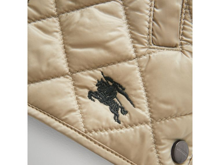 Lightweight Diamond Quilted Jacket in Mink | Burberry - cell image 1