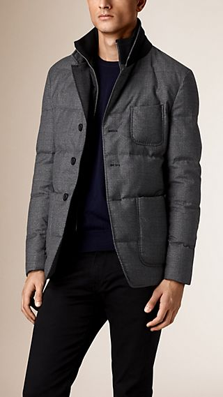 Down-Filled Virgin Wool Jacket