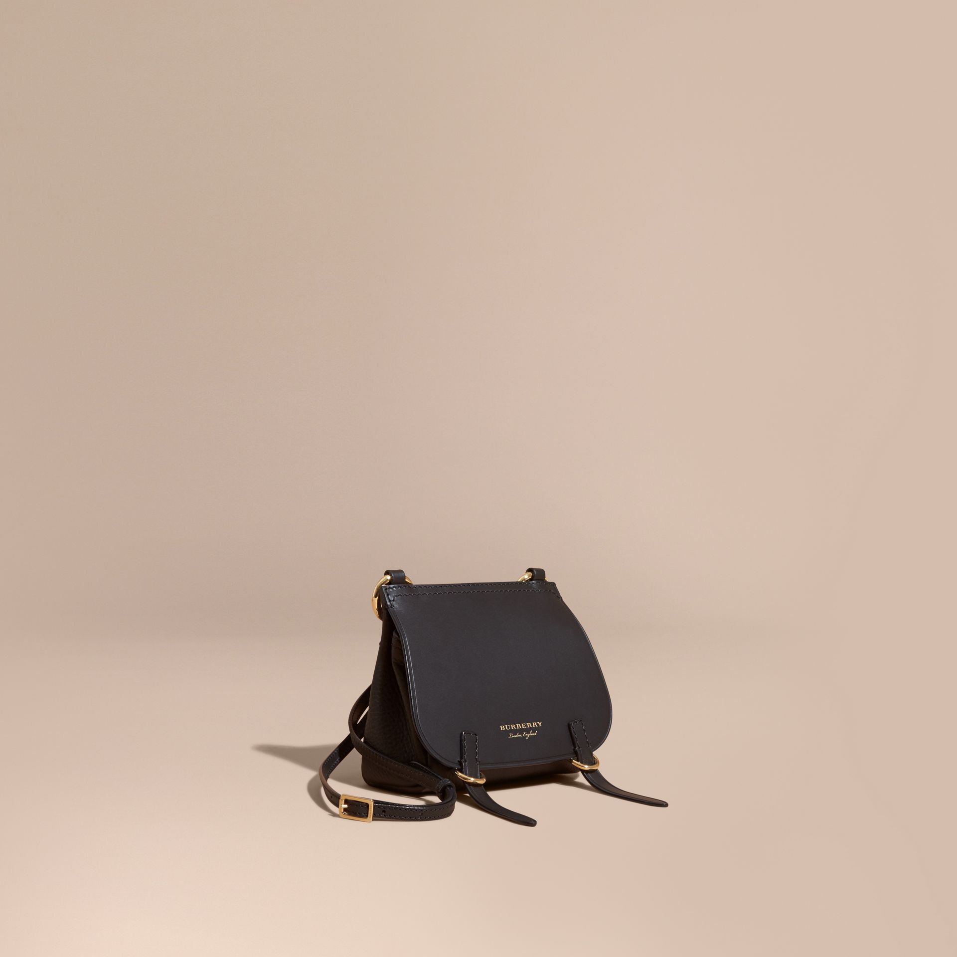 Black The Baby Bridle Bag in Leather Black - gallery image 1