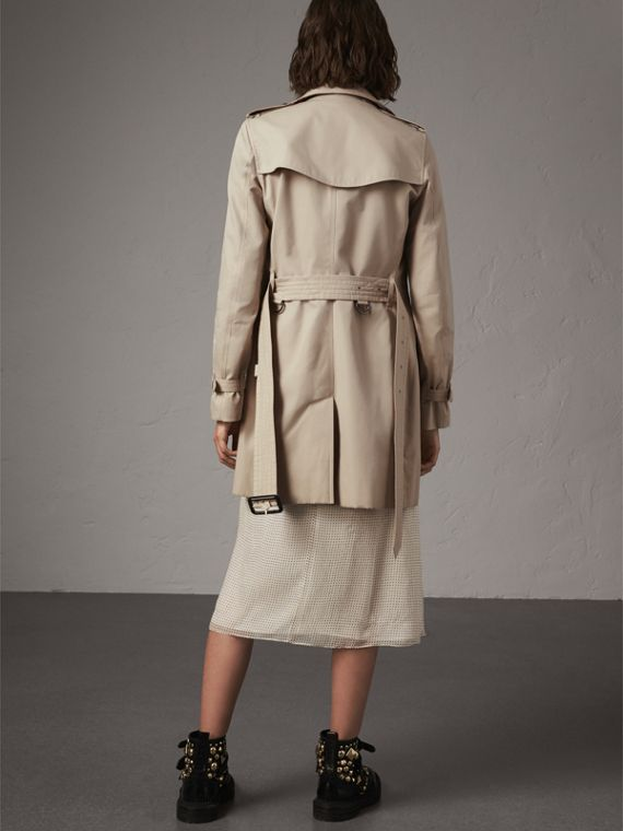 The Kensington – Mid-Length Heritage Trench Coat in Stone - Women | Burberry - cell image 2