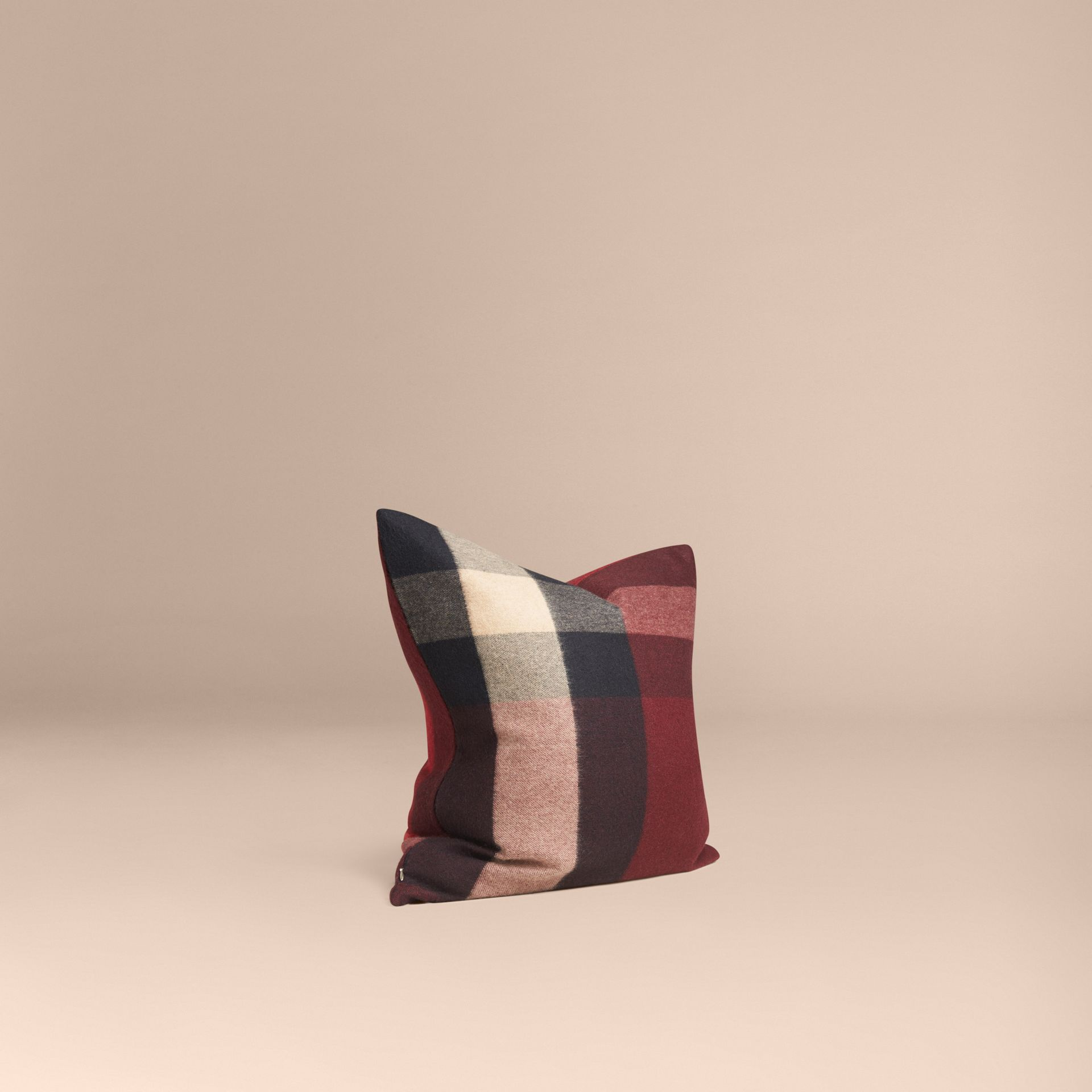 Claret Check Cashmere Cushion Cover Claret - gallery image 1