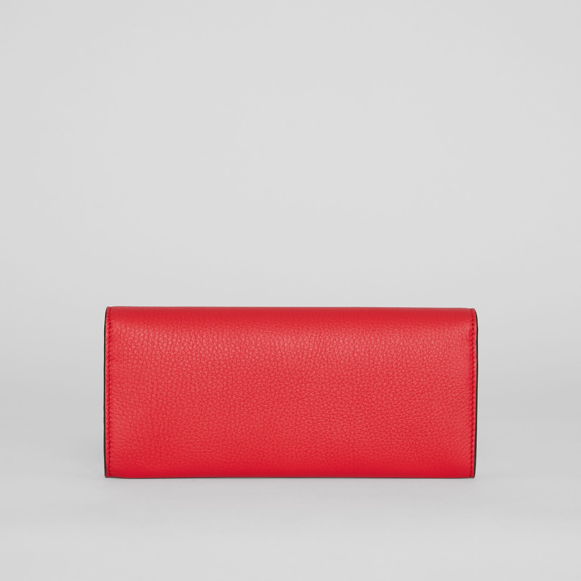 Grainy Leather Continental Wallet in Bright Military Red - Women | Burberry Singapore - gallery image 6