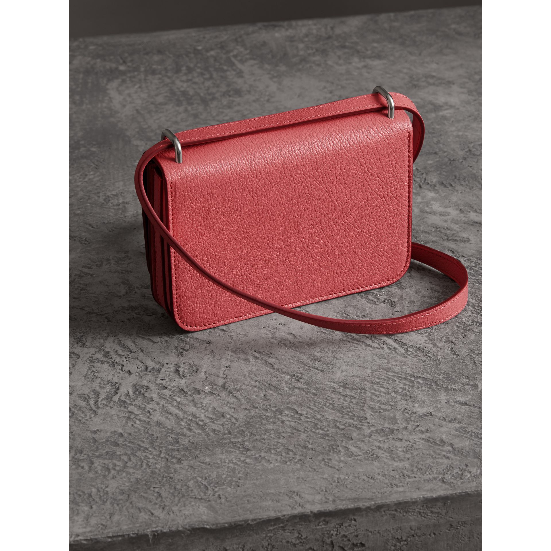 The Mini Leather D-ring Bag in Bright Coral Pink - Women | Burberry Australia - gallery image 4