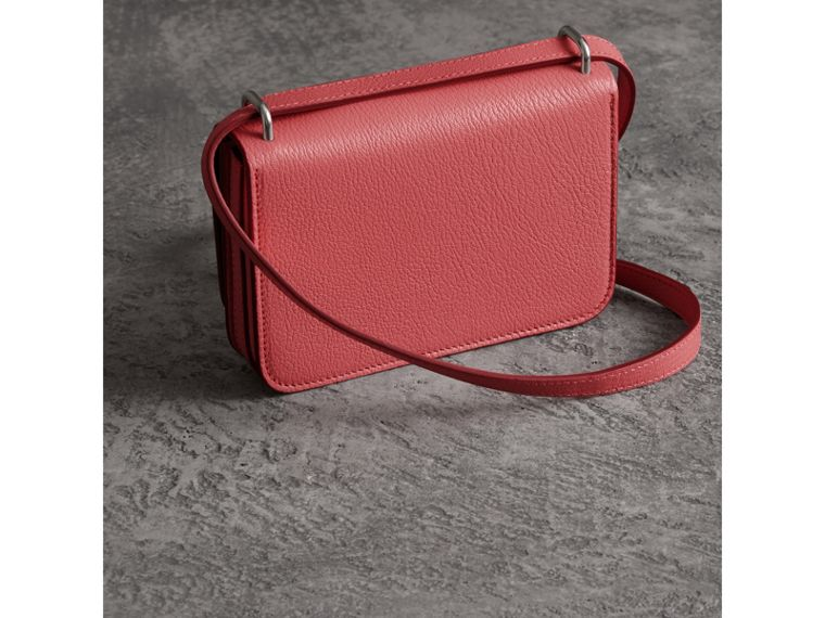The Mini Leather D-Ring Bag in Bright Coral Pink - Women | Burberry - cell image 4