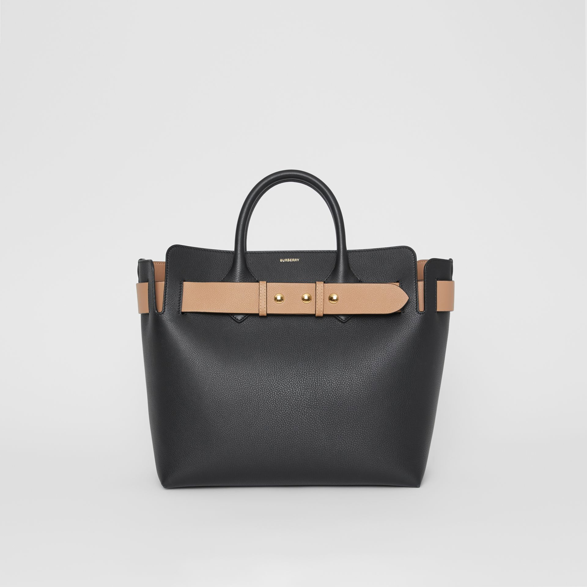 The Medium Leather Triple Stud Belt Bag in Black - Women | Burberry United Kingdom - gallery image 0