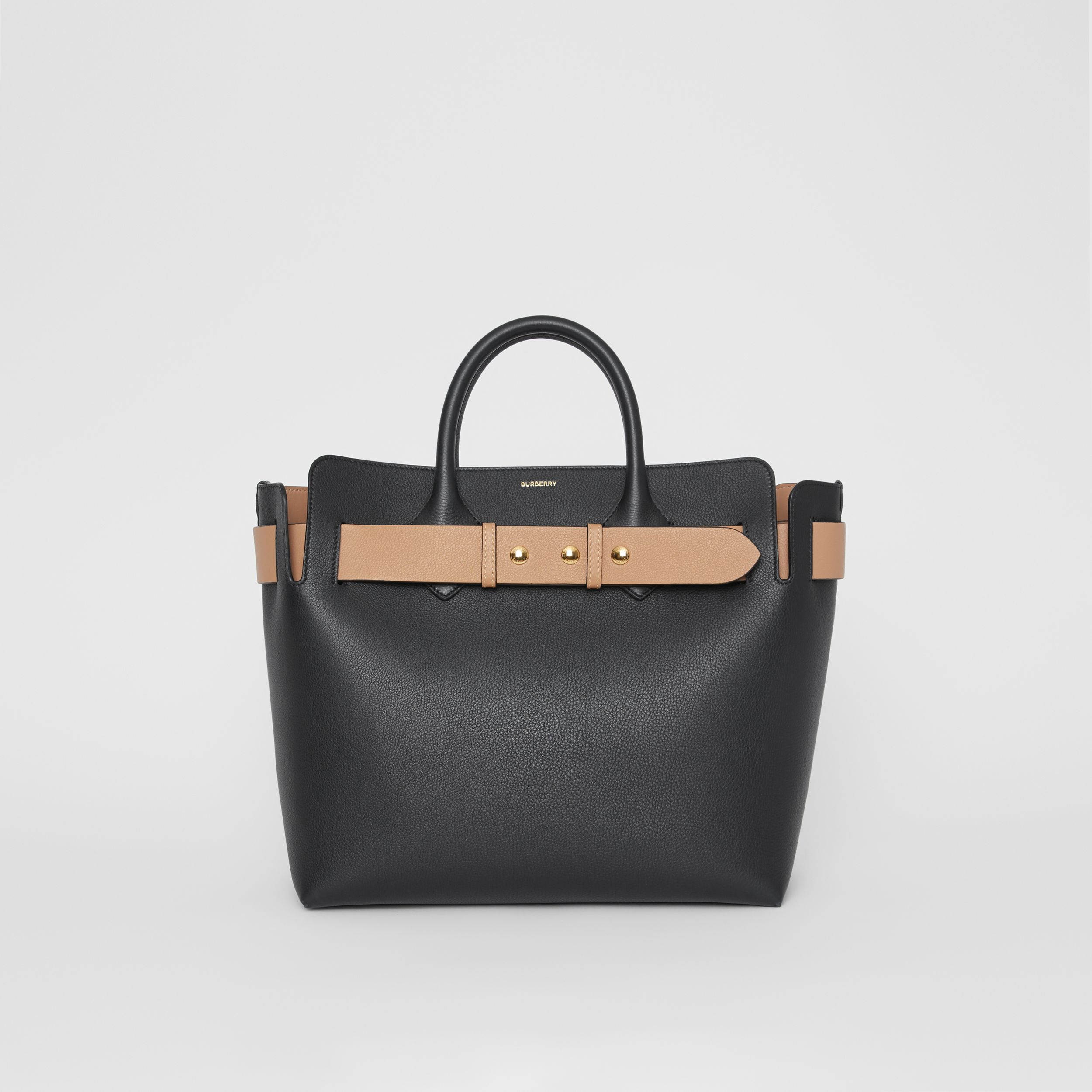 The Medium Leather Triple Stud Belt Bag in Black - Women | Burberry United States - 1