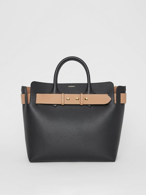 The Medium Leather Triple Stud Belt Bag in Black