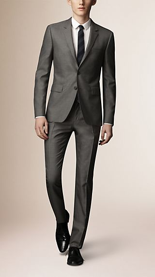 Slim Fit Wool Silk Half-canvas Suit