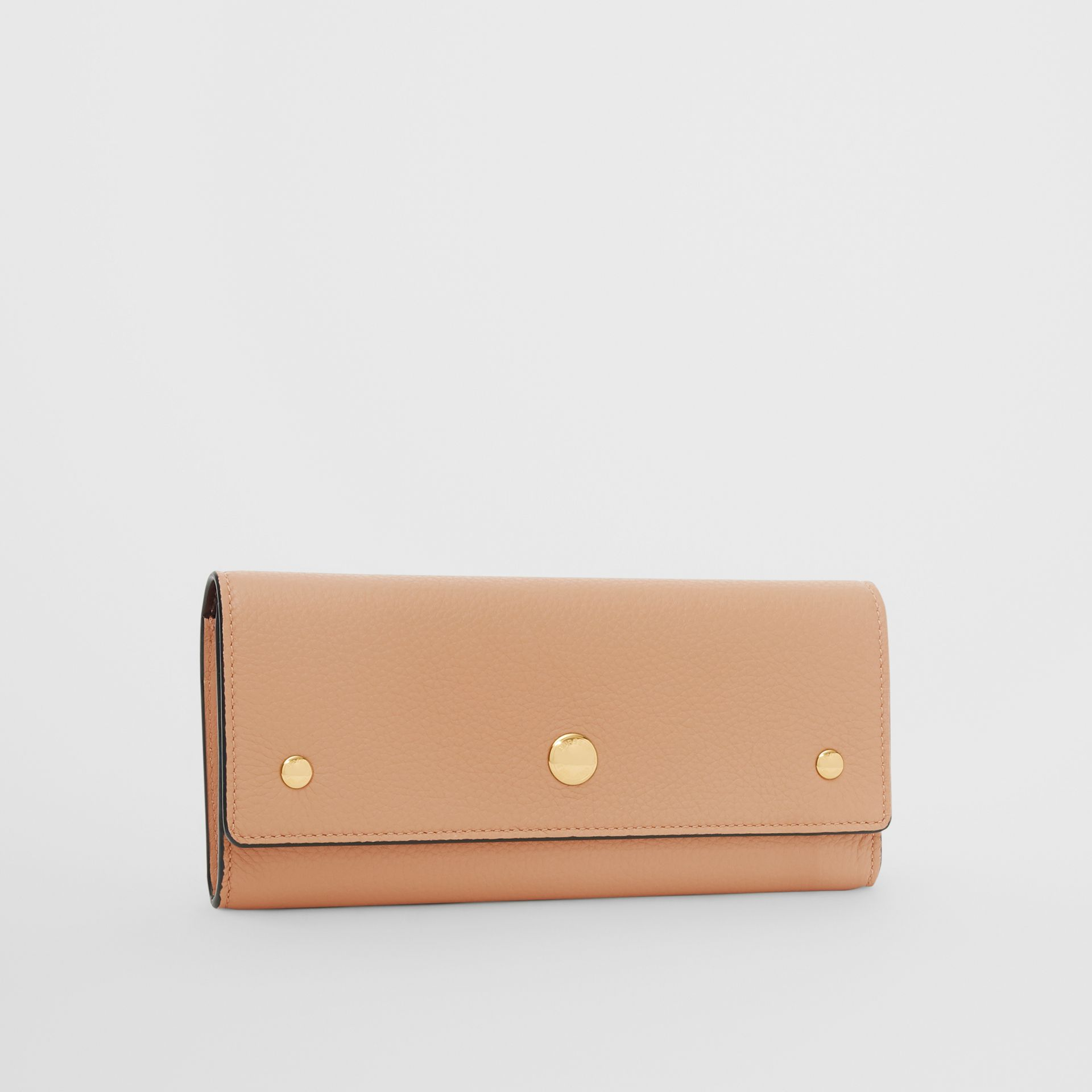 Grainy Leather Continental Wallet in Light Camel - Women | Burberry Australia - gallery image 4