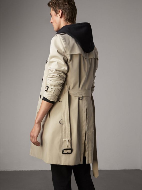 The Kensington – Long Trench Coat in Stone - Men | Burberry - cell image 2