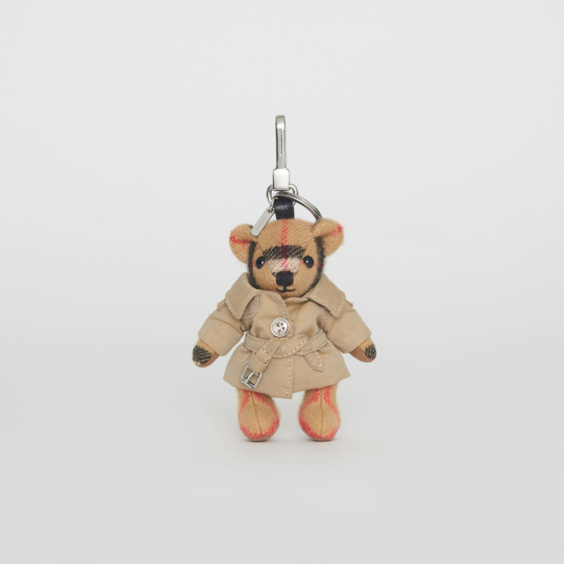 Bijou porte-clés Thomas Bear avec trench (Jaune Antique) | Burberry - photo de la galerie 3