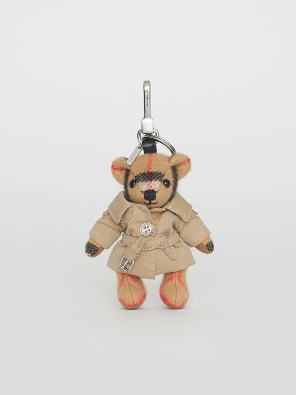 Bijou porte-clés Thomas Bear avec trench (Jaune Antique) | Burberry Canada - cell image 3