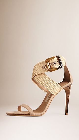Buckle Detail Suede Sandals