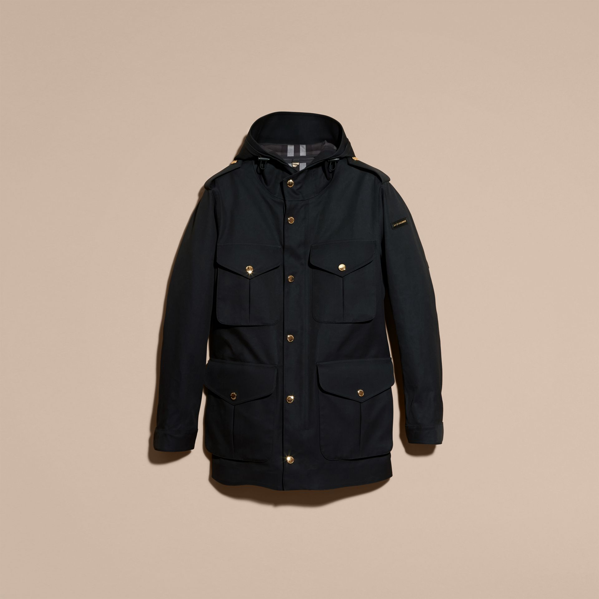 Hooded Bonded Cotton Field Jacket - gallery image 4