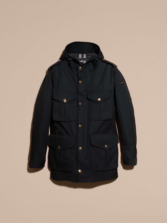 Hooded Bonded Cotton Field Jacket - cell image 3