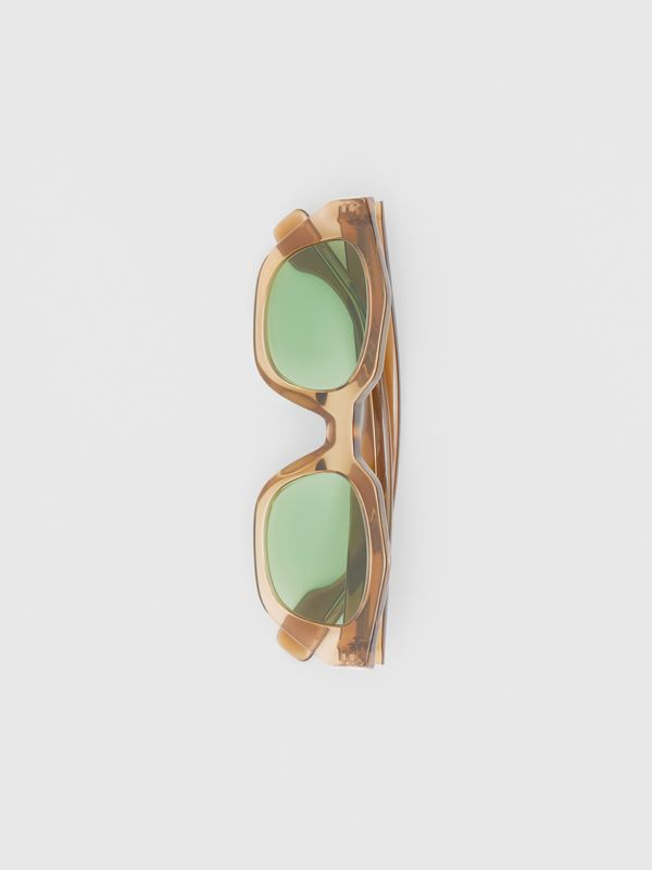 Geometric Frame Sunglasses in Brown - Women | Burberry United Kingdom - cell image 3