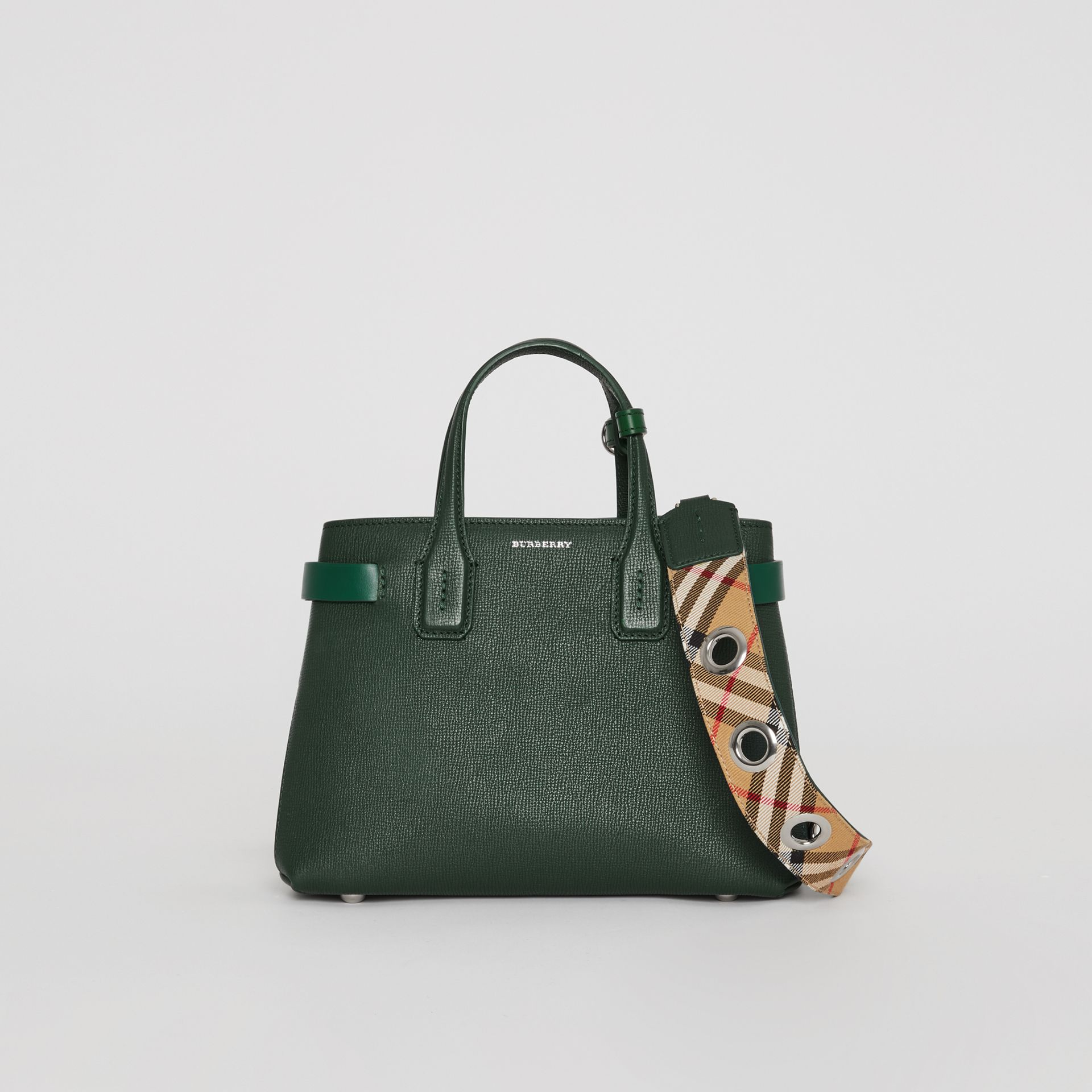 The Small Banner in Grainy Leather in Vintage Green - Women | Burberry United States - gallery image 0
