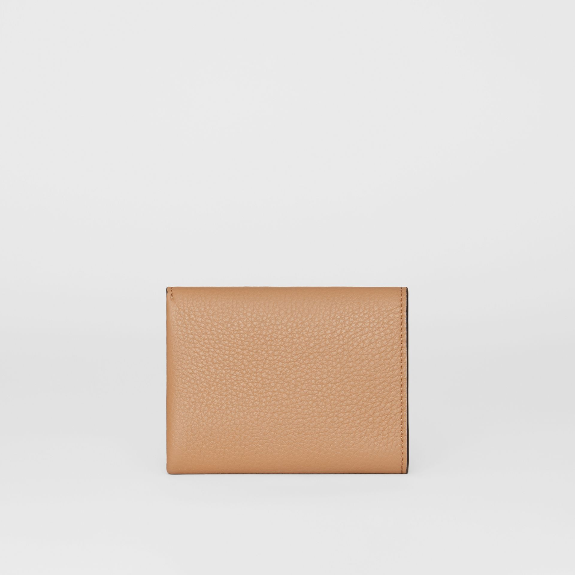 Small Leather Folding Wallet in Light Camel - Women | Burberry - gallery image 5