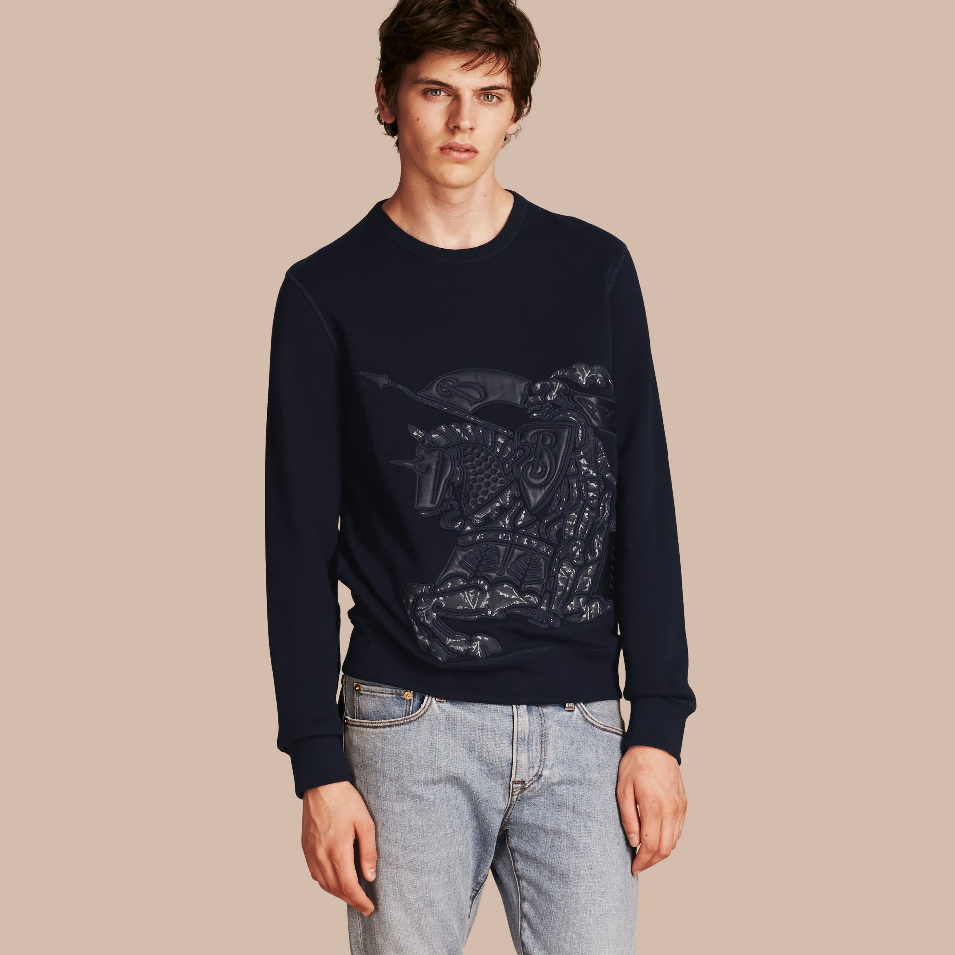 Equestrian Knight Device Cotton Blend Sweatshirt - Men | Burberry - gallery image 6