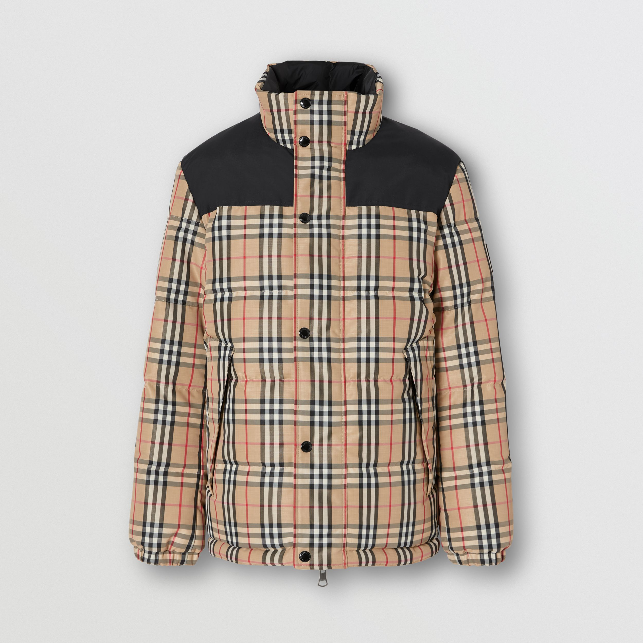 Reversible Vintage Check Recycled Polyester Jacket in Archive Beige - Men | Burberry - 4