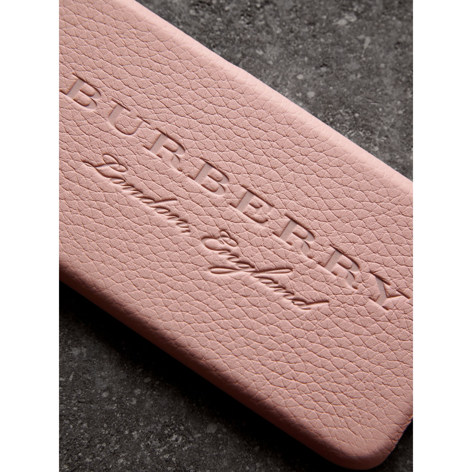 London Leather iPhone 7 Case in Pale Ash Rose | Burberry - gallery image 1