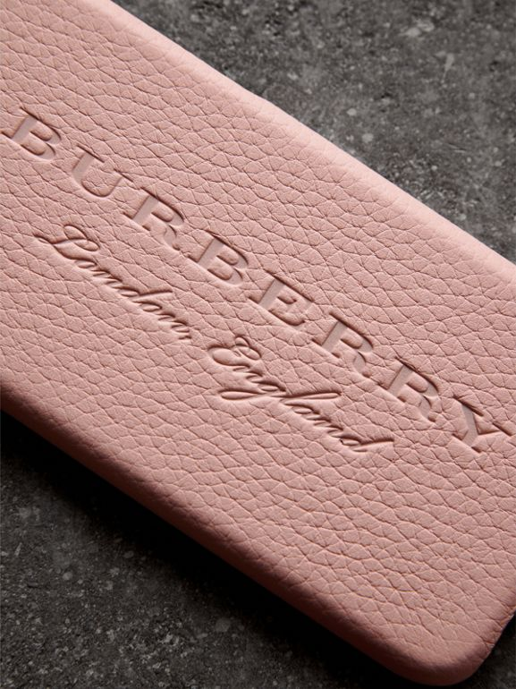 London Leather iPhone 7 Case in Pale Ash Rose | Burberry - cell image 1