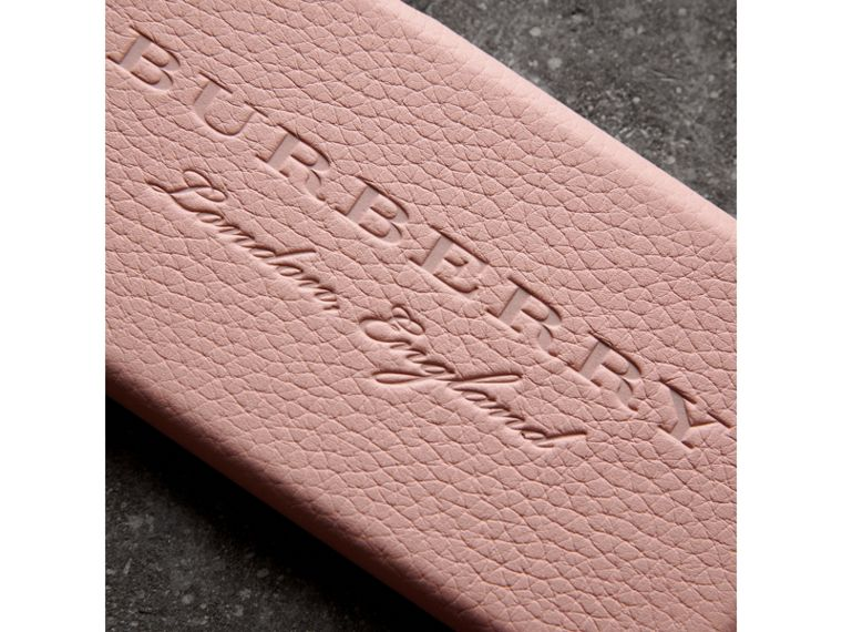 London Leather iPhone 7 Case in Pale Ash Rose - Women | Burberry - cell image 1