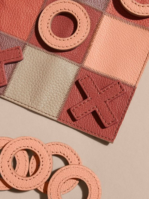 Leather Noughts and Crosses Set and Case in Pink Apricot | Burberry - cell image 2