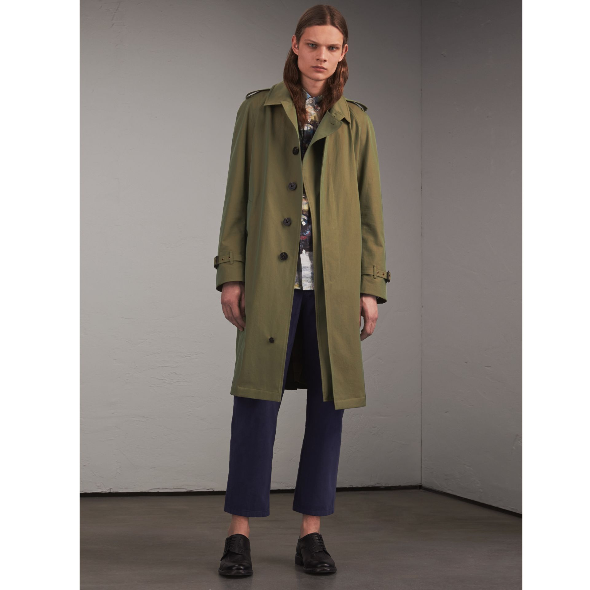 Oversize Storm Shield Tropical Gabardine Trench Coat - gallery image 1