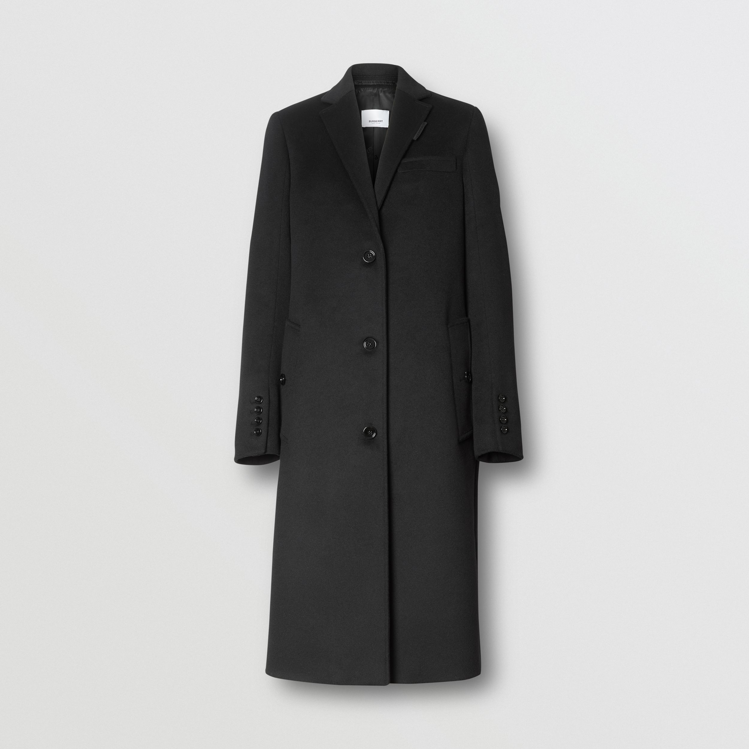 Wool Cashmere Tailored Coat in Black - Women | Burberry - 4