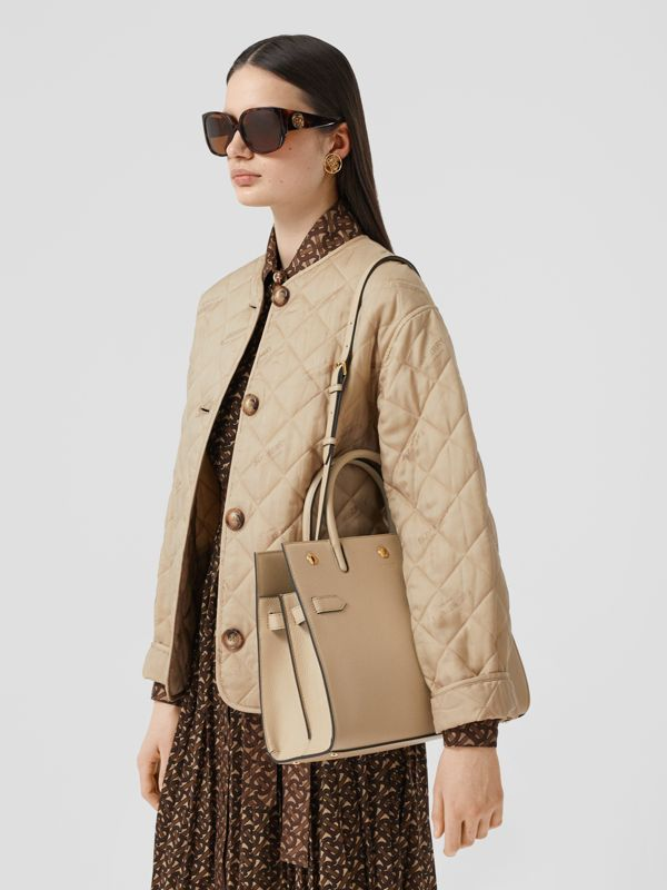 Small Leather Two-handle Title Bag in Light Beige - Women | Burberry Hong Kong S.A.R - cell image 2