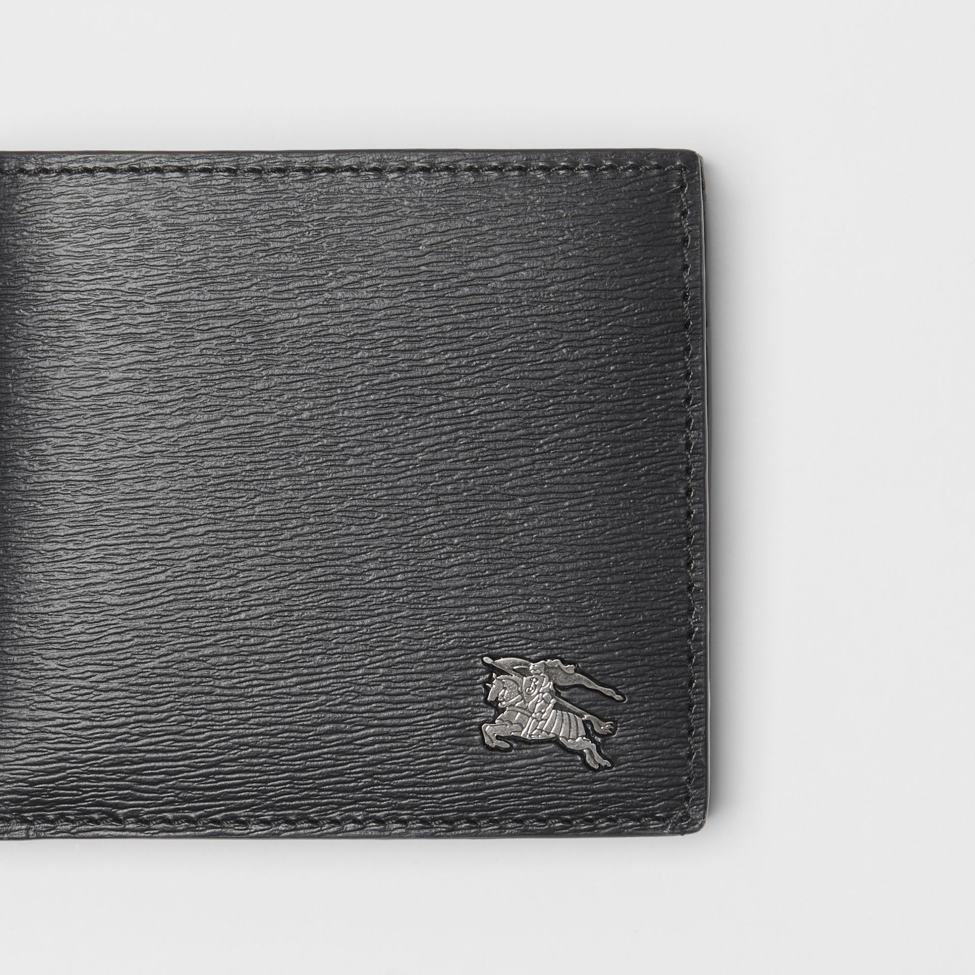 London Leather International Bifold Coin Wallet in Black - Men | Burberry - gallery image 1