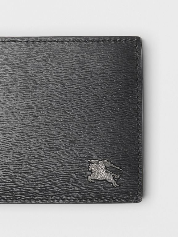 London Leather International Bifold Coin Wallet in Black - Men | Burberry - cell image 1