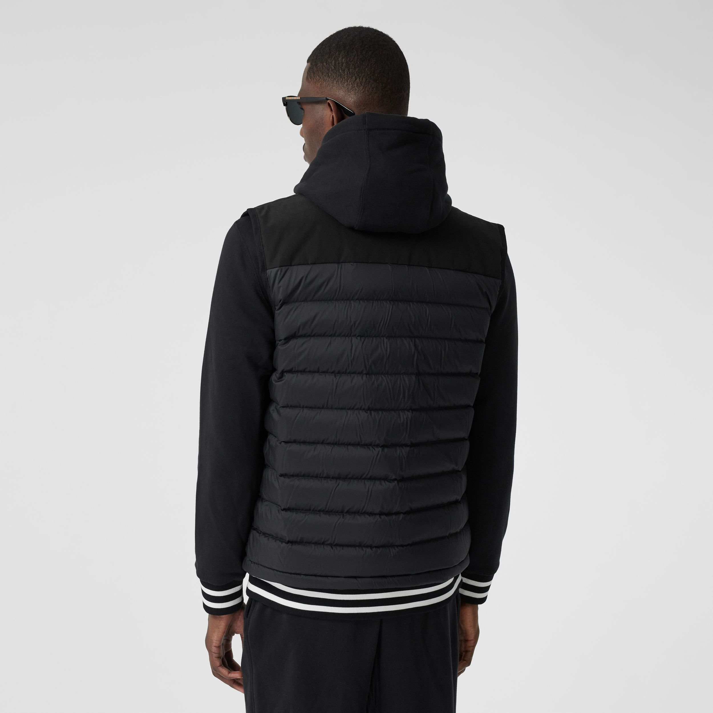 Logo Appliqué Lightweight Puffer Gilet in Black - Men | Burberry - 3